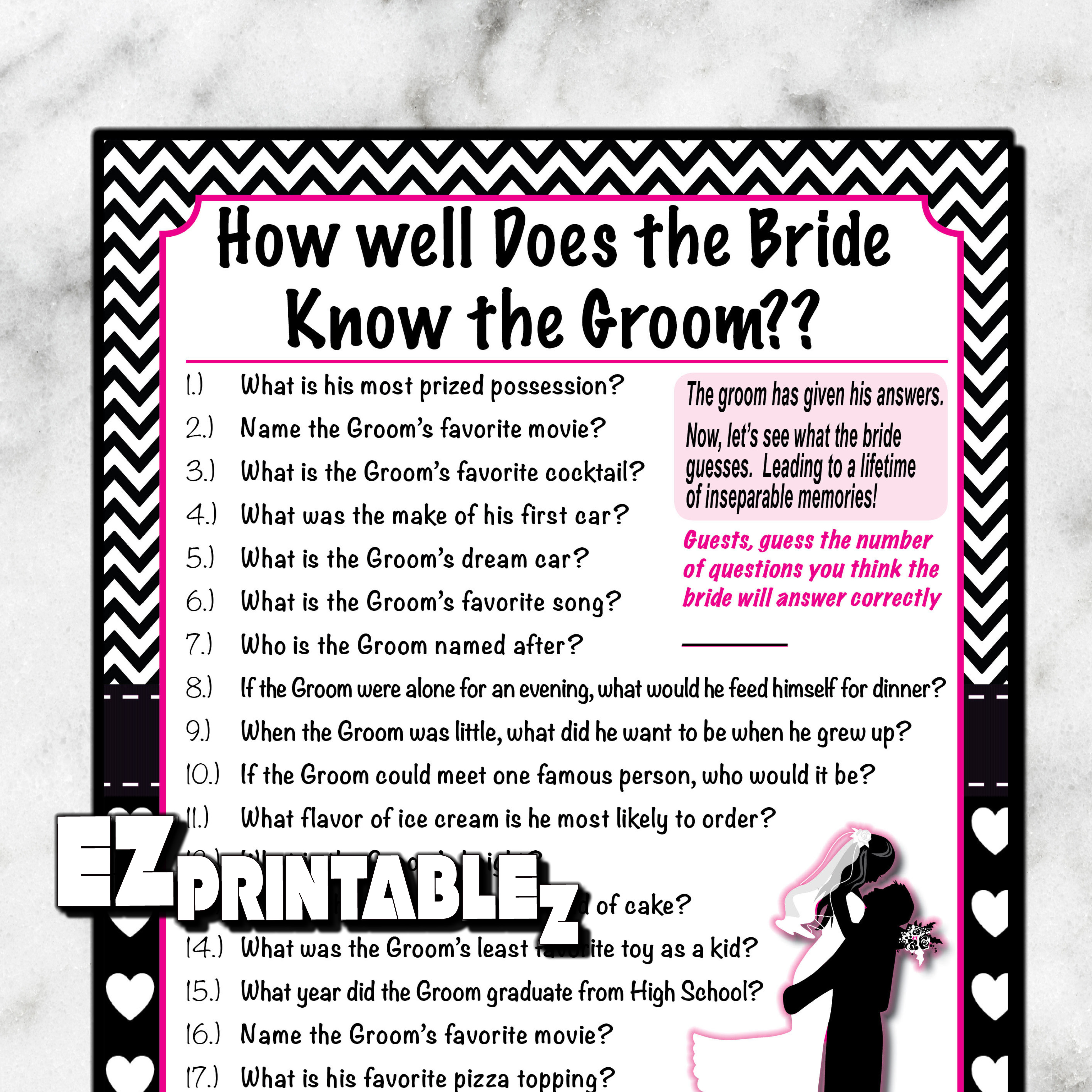 How Well Does The Bride Know The Groom